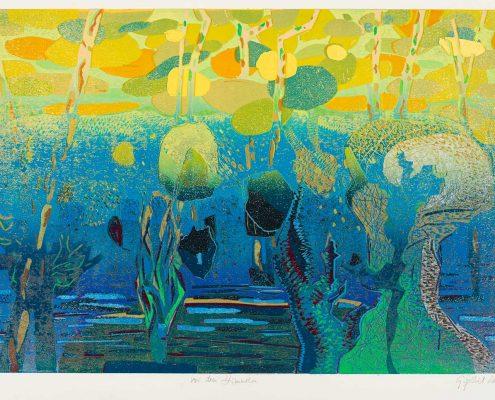 Gabriele Sperlich - Vor den Himmeln, Farbholzschnitt, 2013