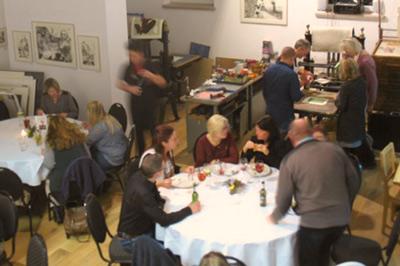 Blick in den Galerie- und Werkstattraum