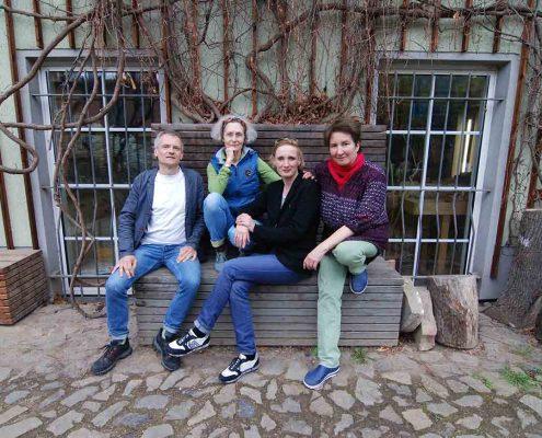 Hochdruckpartner Harald Alff, Susann Hoch, Gabriele Sperlich und Stephanie Marx