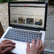 Neue Website auf dem Laptop