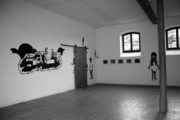 Franca Bartholomäi: Kunstverein Röderhof, Papierschnitte, 2016